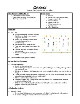 Cricket Mini-Unit Plan for Physical Education
