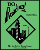 Cricket in Times Square Novel Study + TWELVE Hands-On Activities!