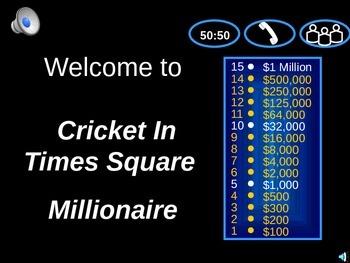 Cricket in Times Square Millionaire