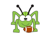 Cricket with Football Clip Art