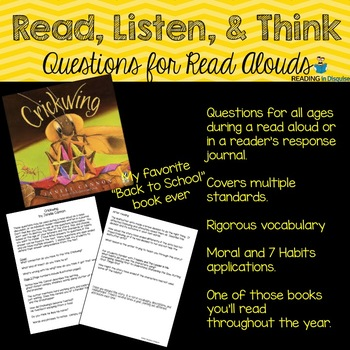 Crickwing Higher Order Thinking Questions