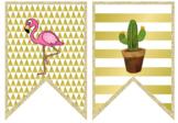 Cricut Bunting - Watermelon, Cactus and Flamingo