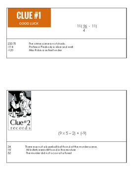 Crime Detective Order of Operation Activity Practice