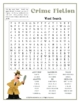 Crime Fiction Word Search Puzzle
