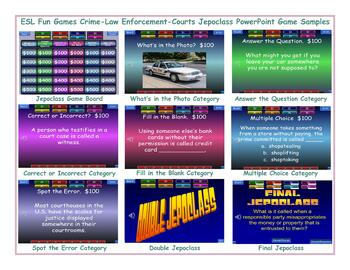 Crime-Law Enforcement-Courts Jeopardy PowerPoint Game