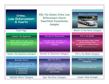 Crime-Law Enforcement-Courts PowerPoint Presentation