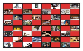 Crime, Law Enforcement and Courts Checker Board Game
