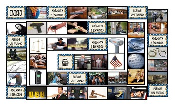 Crime, Law Enforcement, and Courts Spanish Legal Size Photo Board Game