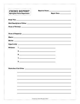 Crime Report Form