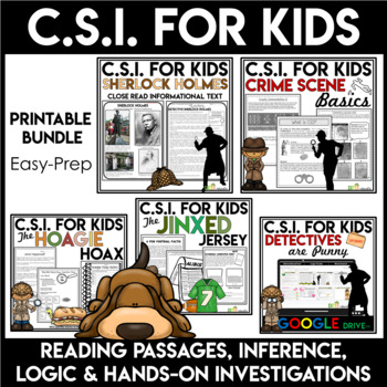 CSI Forensics | Crime Scene Investigation Activity Bundle