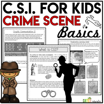 CSI Forensics | Crime Scene Investigation Activity Bundle