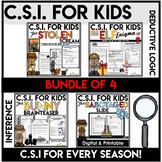 Crime Scene Investigation Activities Bundle   Seasonal C.S.I for Kids