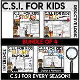 Crime Scene Investigation Activity Bundle 2 | Forensics | Seasonal
