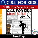 Crime Scene Investigation Activity | CSI Basics | Solve a Mystery