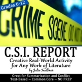 Crime Scene Investigator Police Report, Creative, Text-Based Fun, Any Text