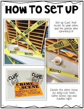 Crime Scene Making Inferences Investigation