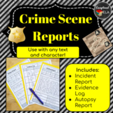 Crime Scene Reports For Any Text: Police Report, Evidence Log, Autopsy Report