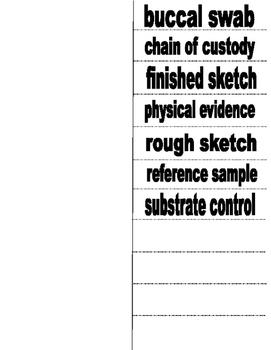 Crime Scene Vocabulary Flip Book