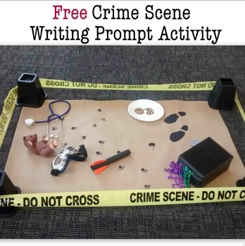 Crime Scene Writing Prompt Activity