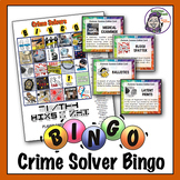 Science Bingo: Crime Solvers Forensic Science - Ready to Play Game