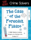 Crime Solvers: The Case of the Forecast Fiasco (Integers Number Line)