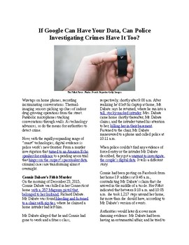 Crime and Forensics - 4th Amendment: If Google can have your data, can police?