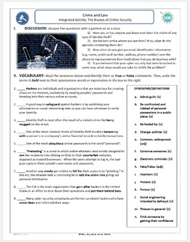 Crime and Law (B): Cyber Crime and  Online Security (Adult ESL)