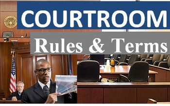Crime and Law (C): Courtroom Roles and Terms (Vocabulary)