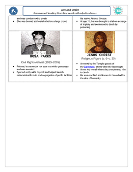 Crime and Law C: Describing people using adjective clauses