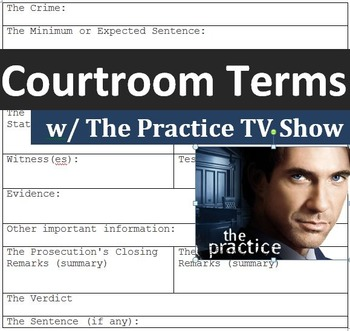 """Crime and Law (C): Learning courtroom terms with """"The Prac"""
