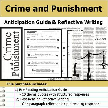 Crime and Punishment - Anticipation Guide & Reflection