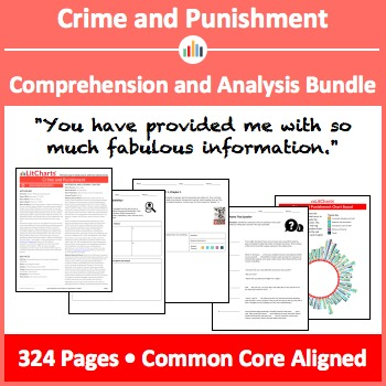 Crime and Punishment – Comprehension and Analysis Bundle