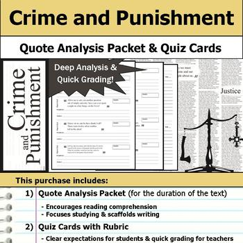 Crime and Punishment - Quote Analysis & Reading Quizzes