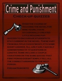 Crime and Punishment Reading Check-up Quizzes