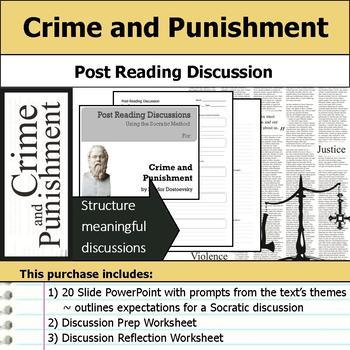 Crime and Punishment - Socratic Method - Post Reading Discussions