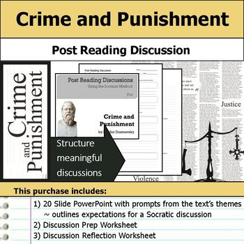 Crime and Punishment - Socratic Method - Post Reading Discussions