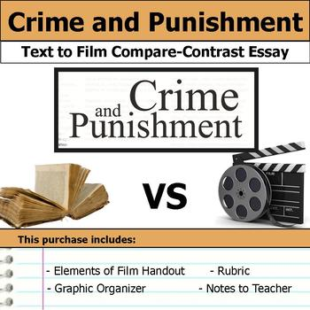 Crime and Punishment - Text to Film - Compare & Contrast Essay Bundle
