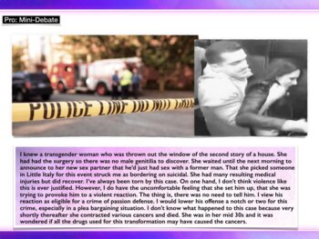 Crime of Passion  -  Mitigating Defense in Murder Trial - Criminal Law