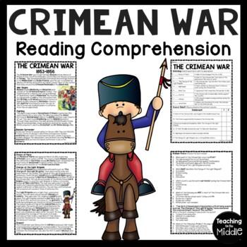 Crimean War Reading Comprehension Worksheet, Charge of the Light Brigade