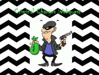 Criminal Charges Webquest
