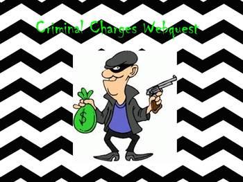 Criminal Charges Webquest