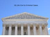 Criminal & Civil Cases power point (Virginia Civics SOL CE.10c)
