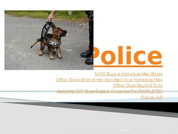 Criminal Justice: Police Unit PowerPoint