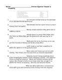 Criminal Law - Crime Vocabulary Matching with Word Bank Worksheet