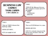 Criminal Law Task Cards