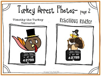Criminal Turkey - Thanksgiving CCSS Reading Writing and Listening Craftivity