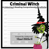 Criminal Witch - Halloween CCSS Reading Writing and Listening Craftivity