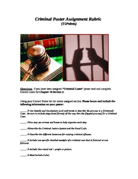 Criminal and Civil Law / Cases Poster Group Work Project (Government)