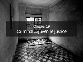 Criminal and juvenile Justice