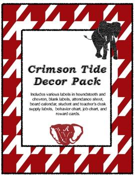 Crimson Tide Decor Pack